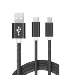Cable usb vers Type C Noir...