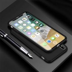 Coque 360 souple iPhone X Noir