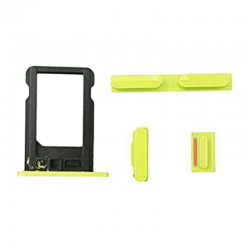 Kit Bouton iPhone 5C Jaune...